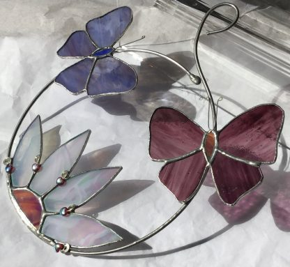 Purple and Blue Butterfly Hoop