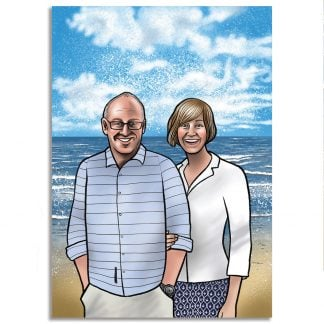 Mel Langton Art Couples Digital Portrait