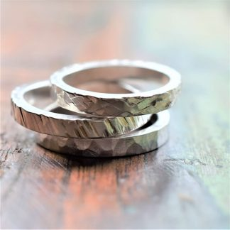 unusual textured silver ring