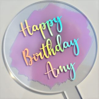 Personalised Acrylic Cake Topper
