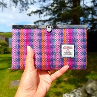 Harris Tweed Slimline Purse Multicolour Stripe