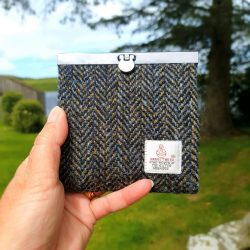 Herringbone Harris Tweed Wallet Purse