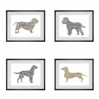 dog word art gifts