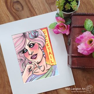The Kinks inspired 'Lola' limited edition giclee print by Mel Langton Art