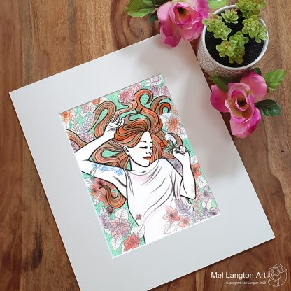 Beautiful 'Lucy' limited edition giclee print by Mel Langton Art