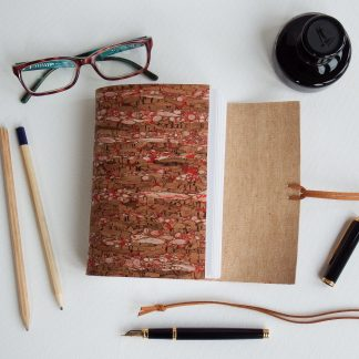 Red Fleck Cork Journal, Vegan, Eco-friendly, Mallory Journals