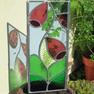 stained glass foxglove garden sculpture