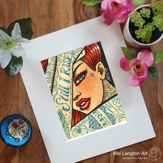 Still I Rise limited edition giclee tattoo art print by Mel Langton Art