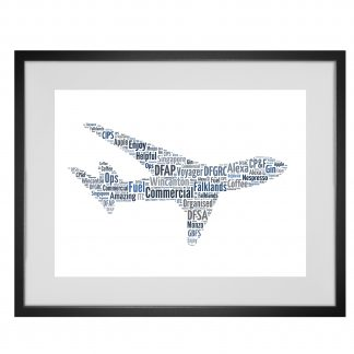 aeroplane word art print
