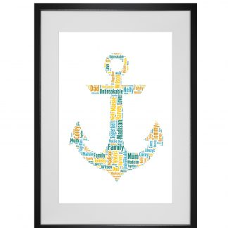 anchor word art print