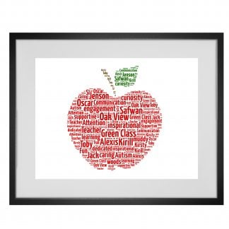 Apple word art print