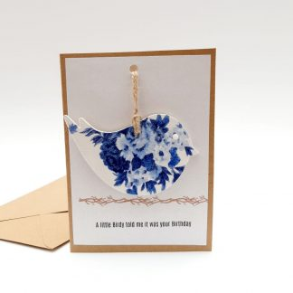 Blue Bird Birthday Card