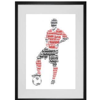 footballer word art print
