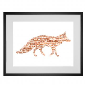 fox word art print
