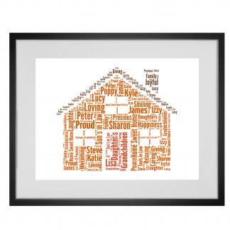 Personalised Home Word Art