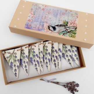 Lavender wooden bunting