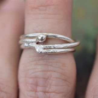 molten silver wire ring by All That Glitters