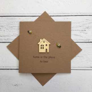 Crofts Crafts new home card - home is the place to bee