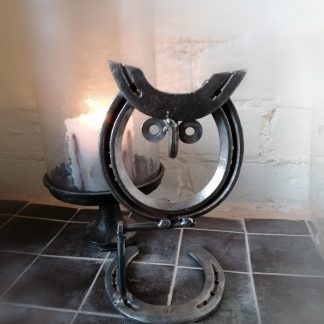 horseshoe metal art owl