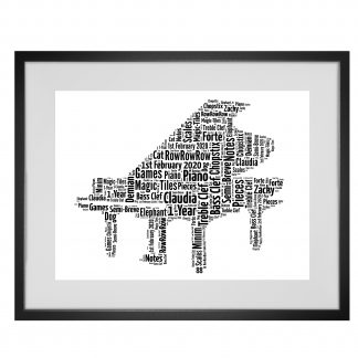 Piano word art print