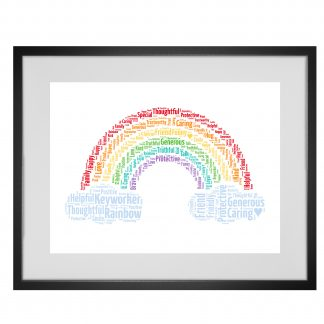 rainbow word art print