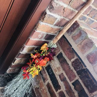 Decorative witches broom or besom