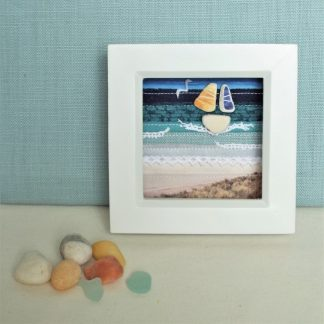 Seascape textile picture