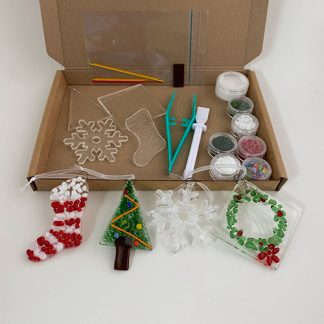 Fused glass Christmas decoration making kit