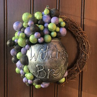 Witches brew Halloween wreath