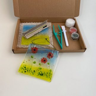 Make at home fused glass kit of flowers