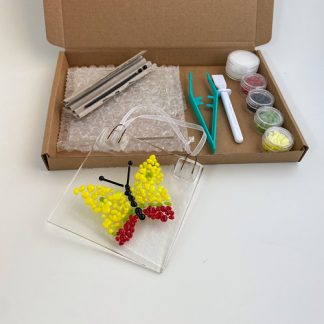 Make at home fused glass kit in butterfly design