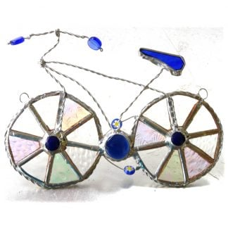 bicycle bike cycle stained glass suncatcher