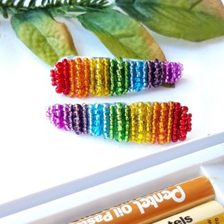 CherylsJewellery - Rainbow Hair Clips