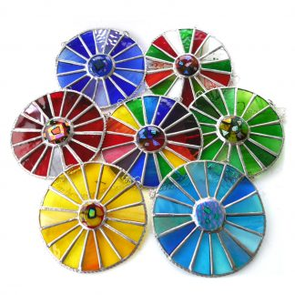 colourwheel stained glass fused suncatcheri