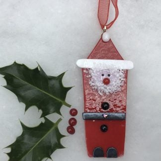 Fused Glass Father Christmas