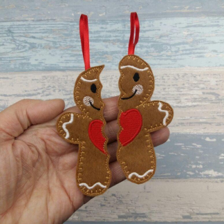 Gingerbread Friend Sharing Christmas Tree Decoration