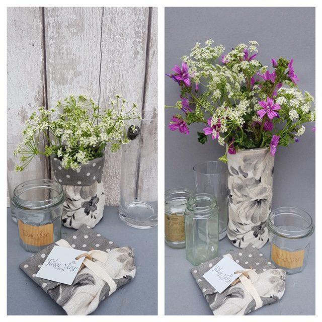 Floral Fabric Vase