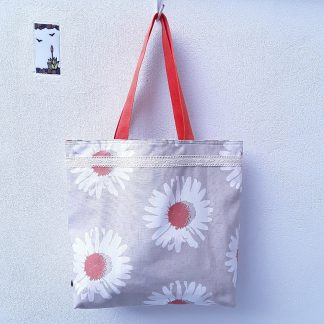 Shopping bag, large size, reversible, eco- friendly 1000% cotton fabrics.