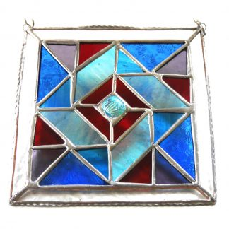 Patchwork Quilt Stained Glass Suncatcherv
