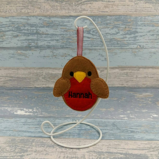 Personalised Robin Gingerbread Decoration