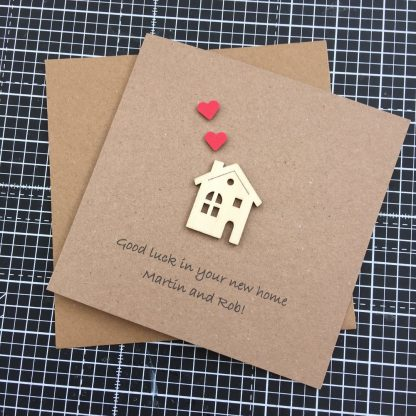 Crofts Crafts new home card with personalisation
