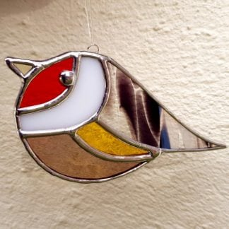 Goldfinch stained glass suncatcher