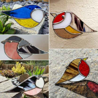 Millerman Glass British Birds stained glass suncatcher collection