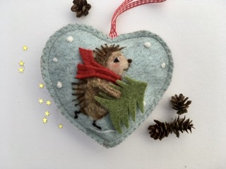 Hedgehog decoration