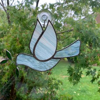 Stained glass dove of peace Suncatcher