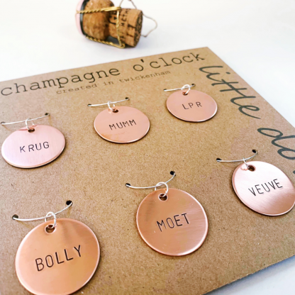 Champagne wine charms