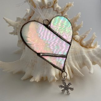 White Stained Glass heart