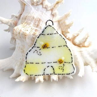 Fused glass beehive