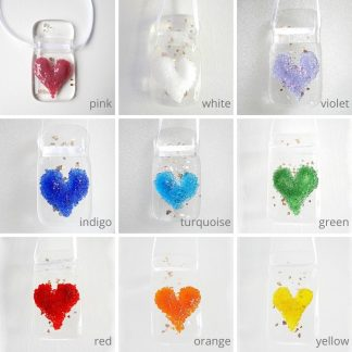 Textured fused glass heart, glittering light catcher, suncatcher, token gift