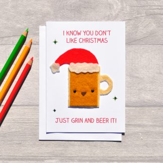 funny beer christmas card